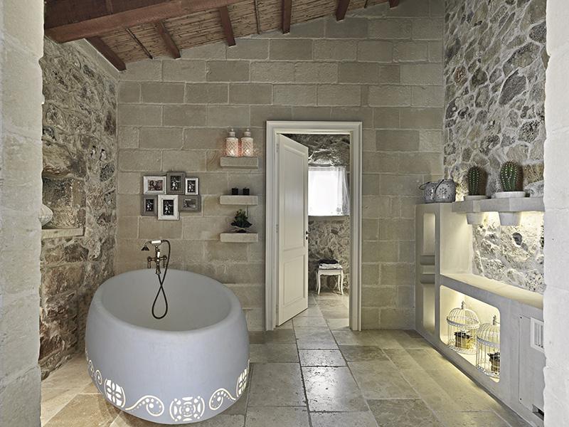 bianco cave arredo bagno - bianco cave - Bagni In Pietra Moderni